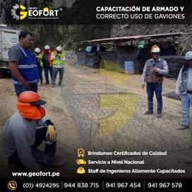 DISEÑO , INSTALACION Y FABRICACION DE GAVION CAJA Y COLCHON CON CERTIFICADO DE CALIDAD ,REPARTO A NIVEL NACIONAL GEOFORT