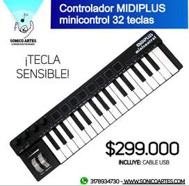Controlador MIDIPLUS Minicontrol 32 teclas