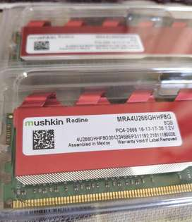 Mushkin Redline memoria PC DDR4 2666mhz 16gb