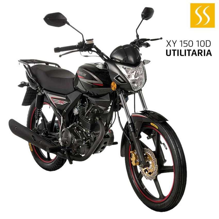 MOTO SHINERAY UTILITARIA XY150-10D 150CC 2020 NEGRO GRATIS MATRICULA + CASCO GARANTIA DE 30000KM 0
