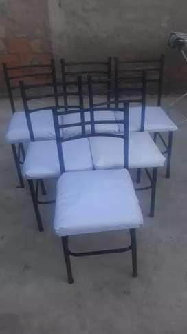 Vendo juego de 6 sillas soy de las heras