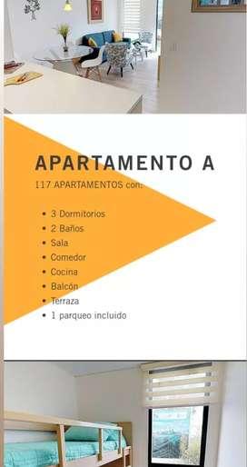 Se vende hermoso apartamento completamente nuevo, por estrenar en la Urbanización Retamo Parc.