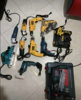 Promocion de taladros y pulidoras para trabajo casero o industrial llámanos 320//6347739 domicilios y envios
