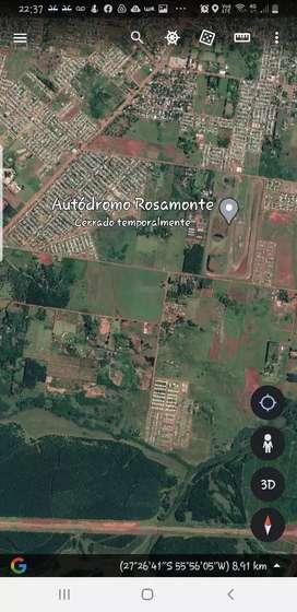 Alquilo Vendo Permuto - Terreno Lote  de 1 hectarea  Barrio San Isidro Av. Fangio sobre Asfalto , Posadas , MIsiones