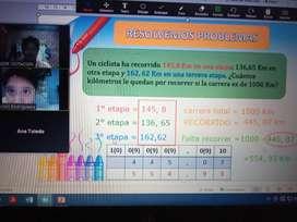 Reforzamiento Matemática Comunicación - primaria y secundaria