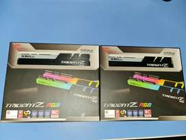 Memorias Ram dos modulos (8x2) Trident Z RGB 3600mhz  NUEVAS