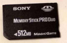 Memoria 512 Mb Pro Duo C/adaptador Sony (mar Del Plata)