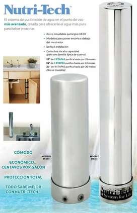 """Sistema de purificacion de agua Nutri - Tech. Modelo de 15"""""""