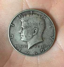 Kennedy medio dolar 1969