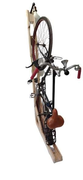 Bicicletero de Madera