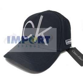 gorra calvin klein logo grande relieve azul envios todo el pais