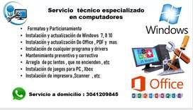 Servicio de mantenimiento para computadoras