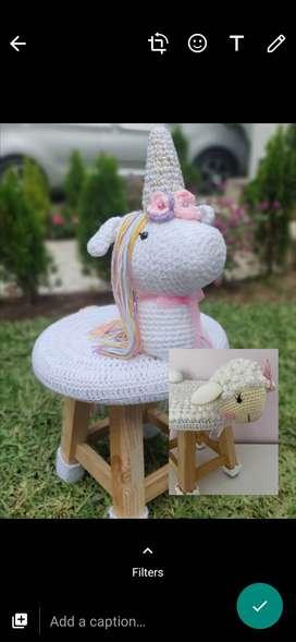 Sillas para niños crochet