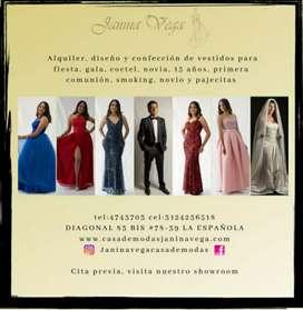 Alquiler y Confeccion de Vestidos para Fiesta