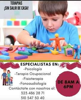 Terapias a domicilio para niños, jóvenes y adultos