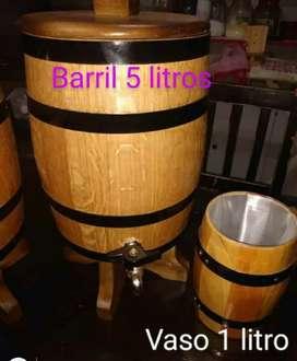 Vendo barril de 5 ltr