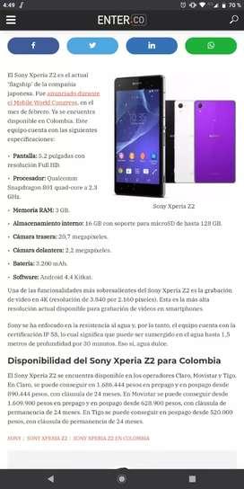 Se vende Sony Xperia Z2 en perfectas condiciones