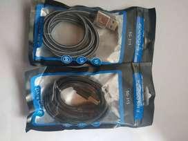 CABLES USB  ANDROID ESTILO CORDON 1 METRO  2 AMPERIOS