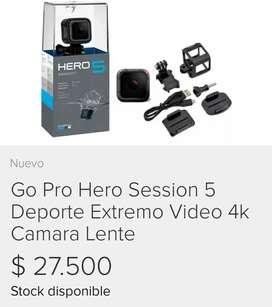 Go pro Hero session 5 -4k + Soporte Tripode