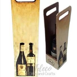 Empaque decorativo - caja para vino