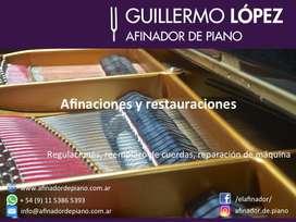 Afinador de pianos en CABA y GBA
