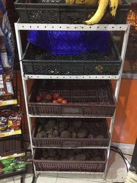 Exhibidor de verduras para tienda o revuelteria