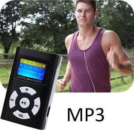Reproductor Música Mp3 Lcd Ranura Microsd 32gb Audifonos