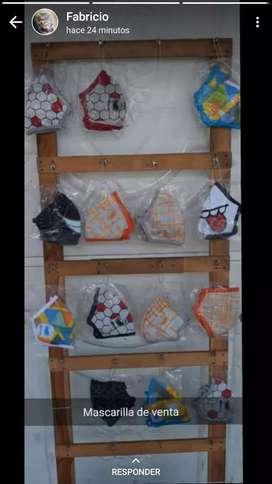 Ventas de mascarrillas polialgodo Diseños varios y ropa Interior