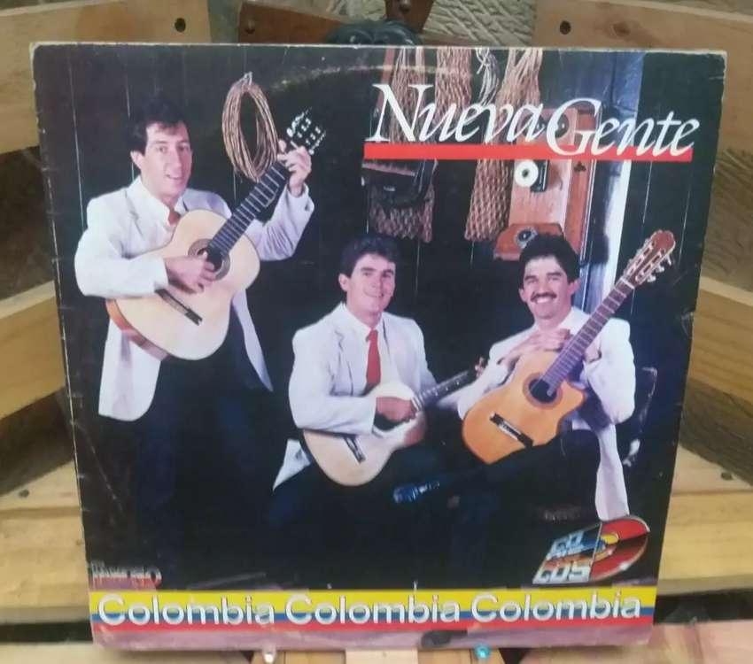 Vinilo Long Play Lp Dísco Acetato Pasta Vinyl Discos Nueva Gente