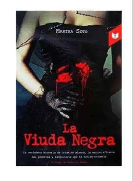 Libro La viuda negra con leve deterioro en paginas