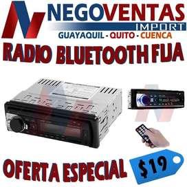 RADIO DE UN DIN BLUETOOTH FIJA AUX , USB  , SD OFERTA