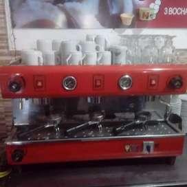 Máquina de café industrial eléctrica 3 bocas