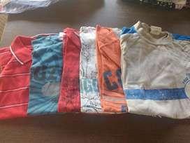 Vendo ropa nueva y usada pero en perfecto estado Talles 3 al 12 de varón.