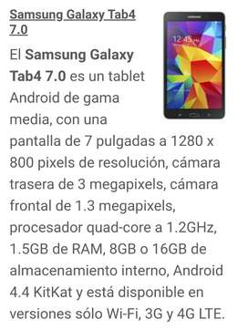 TV DIGITAL Samsung Galaxy Tab 4 (7 pulgadas)
