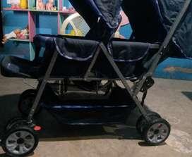 Coche para bebé doble asiento