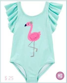 Bañador de 1 pieza, diseño Flamingo, talla 5 años, marca Carter´s