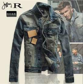 chaqueta de jean para caballero azul excelente calidad nueva comoda y ligera