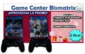 COMBO 1 (2 JUEGOS PS4 + 2 MANDOS) Ó (1 JUEGO + 1 MANDO)