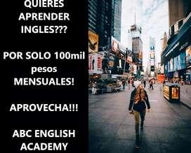 clase de inglés presenciales (Armenia) o virtuales con tu PC o Celular. Para todas las edades.