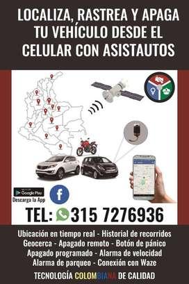 GPS - Ubica, Rastrea y Apaga tu carro desde el celular con ASISTAUTOS y un GPS