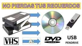 Conversión de videos de VHS a DVD