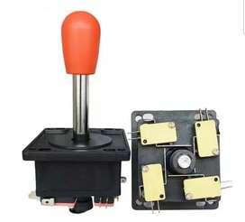 Palanca arcade  con sus micro switch + 8 botones + placa interfaz usb + cables