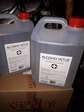 Vendo alcohol etilico la botella de 1lt  $230 y bidon de 5lt a  $850