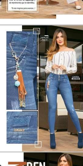 Jeans control abdomen y efecto push up jeans para dama que moldea tu figura