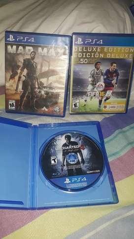 Vendo juegos ps4 usados