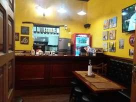 Negocio, Pizzeria, comidas rápidas  y cafe bar