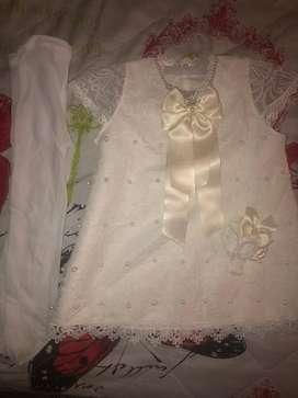 Vestido de bebe de 9 a 12 meses pa bautizo