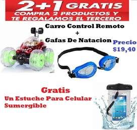 Carro Loco Gafas de Natacion Estuche para Celular