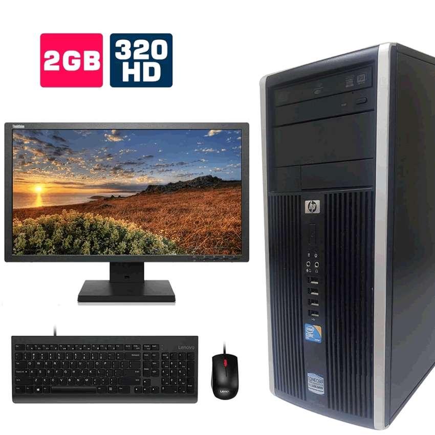 VENTA COMPUTADOR DE ESCRITORIO, HP 6000 CORE 2 DUO, MONITOR, TECLADO Y MOUSE 0