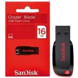 Memoria Flash Usb Sandisk Cruzer Blade 16gb Usb 2.0 Nuevo